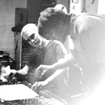 UNREST Mark Robinson, Phil Krauth at Noise New York studio