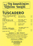 Teen-Beat Night at O'Carroll's Performance flyer Tuscadero, Versus, Uncle Wiggly