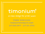 Timonium design website placard