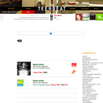 Teen-Beat World Wide Website first redesign