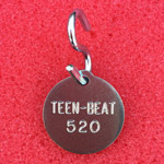 Teen-Beat 20 dog tag, back